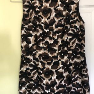 Talbots pure silk leopard print dress